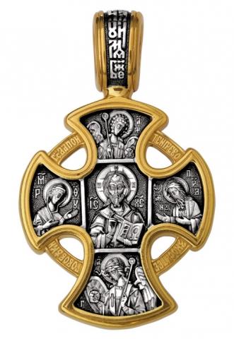 Господь Вседержитель. Ангел Хранитель.Крест нательный. Aртикул 101.028