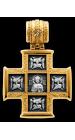 Господь Вседержитель. Великомученик Пантелеимон со сценами жития Крест нательный Артикул:  101.255