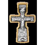 Крест «Распятие с предстоящими. Святой Николай Чудотворец». Артикул: 101.517