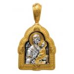 Тихвинская икона Божией Матери.Образок. Aртикул 102.012
