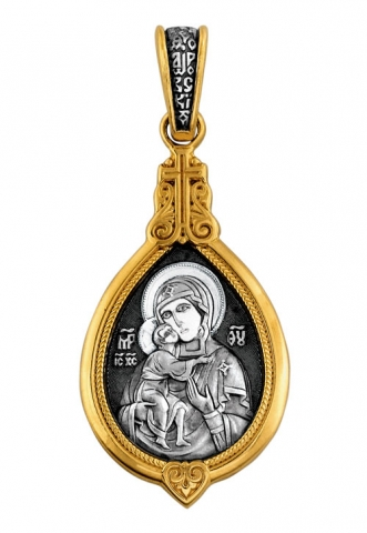 Феодоровская икона Божией Матери. Великомученица Параскева.Образок. Aртикул 102.088