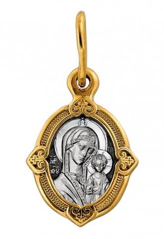Казанская икона Божией Матери. Процветший крест.Образок. Aртикул 102.095