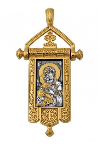 Владимирская икона Божией Матери. Процветший Крест.Образок. Aртикул 102.124