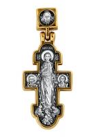 Явление Христа женам-мироносицам. Икона Божией Матери.Нечаянная Радость. Крест нательный. Aртикул 101.096