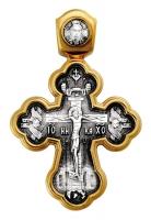 Распятие. Архангел Рафаил и святые целители. Крест нательный. Aртикул 101.209