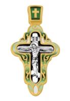 Распятие. Покров Пресвятой Богородицы.Крест нательный. Aртикул 103.072 (*Изделие выпускается разных цветов)