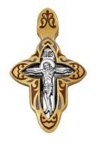 Распятие. Иоанн Кронштадтский.Крест нательный. Aртикул 103.074 (*Изделие выпускается разных цветов)