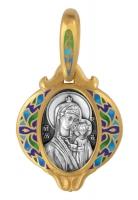 Казанская икона Божией Матери. Образок Aртикул 103.222 (Изделие выпускается разных цветов)