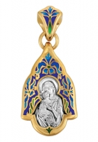Владимирская икона Божией Матери. Образок. Aртикул 103.223 (Изделие выпускается разных цветов)