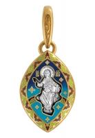 Спас на престоле. Символы Евангелистов. Образок Aртикул 103.224 (Изделие выпускается разных цветов)