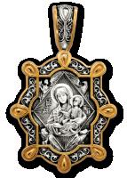 Икона Божией Матери. Неопалимая Купина. Образок. Артикул  102.235