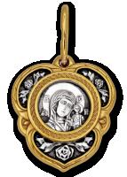 Казанская икона Божией Матери. Хризма. Образок  Артикул:  102.238