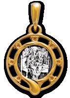 Икона Божией Матери Всецарица. Образок Артикул:  102.245