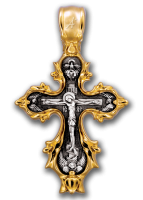 Распятие. Икона Божией Матери. Живоносный источник. Крест нательный Артикул:  101.249