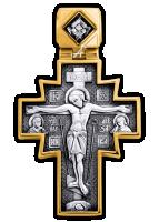 """Распятие. Икона Божией Матери """"Неопалимая Купина"""" крест нательный. Артикул 101.254"""