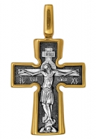 Распятие. Божия Матерь Воплощение. Пять святителей.Крест нательный. Aртикул 101.039