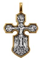 Распятие. Казанская икона Божией Матери с предстоящими святыми.Крест нательный. Aртикул 101.062